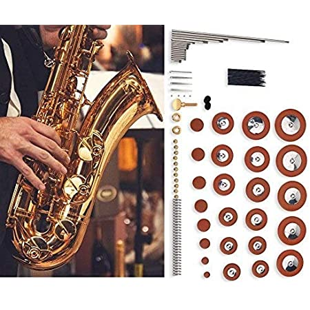 Mowind 26 Pieces Leather Pads Replacement for Alto Saxophone Sax Accessory