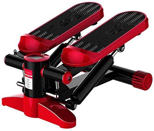 hwbq Mini Stepper Gym Ejercicio Pierna Muslo Tonificación Entrenamiento Fitness Escalera Brazo Máquina de Entrenamiento con Cable (Rojo)