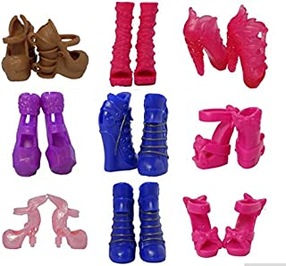 Studio one 5 Pairs Mix style Fashion design High heel Shoes Accessories for Monster High doll best gift