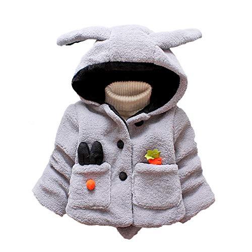Ropa Abrigos Bebé Niña 1-4 años Invierno, Fossen Bebe Niña Botones Chaqueta con Capucha Orejas de Conejo de Dibujos Animados Manga Larga Capa