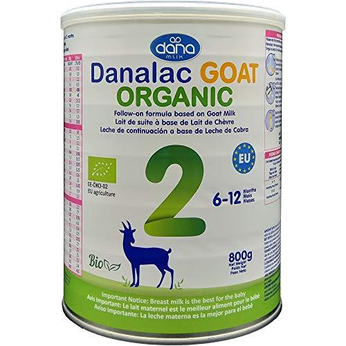 DANALAC Bio Lait bébé avancé Lait de Suite à base de lait de Chèvre 2ème âge Lait en poudre pour nourrissons et bébés âge 6 à 12 mois - Formule EU-2020 800g