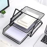 Unterstützung für Office-Ablagetaschen, 3-Stufen-Draht-Mesh-Speicherorganisator, A4 für...