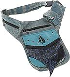 Guru-Shop Goa Gürteltasche, Bauchtasche, Patchwork Sidebag - Blau, Herren/Damen, Baumwolle, Size:One Size, 30x20 cm, Festival- Bauchtasche Hippie