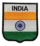 b2see Bügel Flagge Fahne Indien Dehli Aufnäher Patch Aufbügler Applikation Stickerei Flaggen zum auf-bügeln auf-nähen