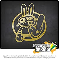 ドリフトウサギ Drift Rabbit 11cm x 10cm 15色 - ネオン+クロム! ステッカービニールオートバイ