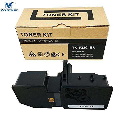 VICTORSTAR @ Cartucho de Tóner Compatible TK5230 / TK-5230 para Impresoras Láser Kyocera ECOSYS P5021cdn, P5021cdw, M5521cdn, M5521cdw (4 Colors)