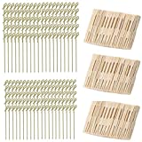 Bamboo Food Picks Cocktail Forks Set, 200 Pcs Appetizer Picks & 300 Pcs Cocktail Picks for Cheese Party Banquet Buffet & Catering   Natural Bamboo Party Food Skewers for Appetizer Cocktail Fruit