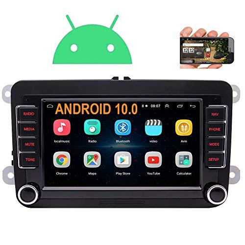 EINCAR Android 10.0 - Radio de coche con Bluetooth para coche, pantalla táctil HD de 7 pulgadas, navegación GPS, 2 Din en la unidad...