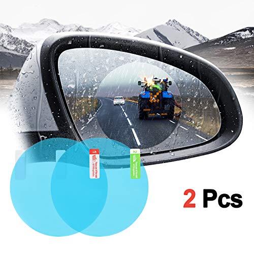 WADEO 2 Piezas Protectora del Espejo Retrovisor Coche, Película de Espejo retrovisor Impermeable Resistente al Agua Resistente a los arañazos Transparente