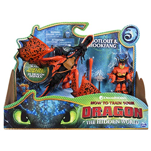 Dragons 6046907 - Movie Line - Dragon & Vikings - Rotzbacke und Hakenzahn (Solid), Actionfiguren Drache & Wikinger, Drachenzähmen leicht gemacht 3, Die geheime Welt
