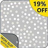 Waterproof Splat Mat - 51' Baby Splat Mat for Under High Chair | Anti-Slip Mat, Washable Gray Highchair Mat, Large Gathre Mat, Art Floor Mat & Table Cloth for Arts/Crafts