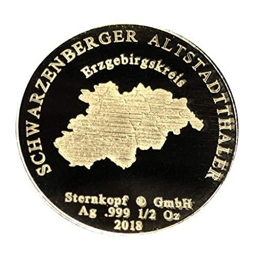 Schwarzenberger Altstadtthaler, Silber 1/2 Oz Münze, Erzgebirgskreis
