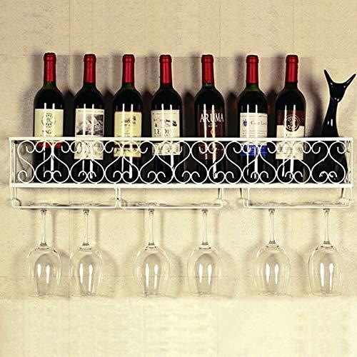 JN Wijnrek decoratie Smeedijzer Zwart/wit/messing Wandmontage Rode Wijn/kruidenier Beker/groene Plant Hoge-temperatuur Coating Voor Een verscheidenheid aan gelegenheden Veilig, Duurzaam en Duurzaam 3 Kleuren Om Fr