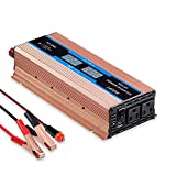 GISIAN Power Inverter 900W DC 12V to AC 110V Car Converter with Dual AC Outlets & USB Port and Digital LED Display Modified Wave Inverter for Car
