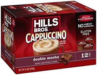 Hills Bros Double Mocha Cappuccino, Single Serve Cups, 12 Count