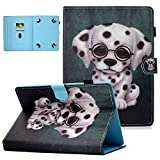 10 inch Case Universal, UGOcase PU Leather Stand Magnetic Case with Card Slots Cover for 9.5-10.5 inch iPad 9.7,Samsung Galaxy Tab,LG,RCA,HP,Dragon Touch,ASUS,iRulu,Fire 10, and More 10' Tab, Dog