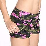 Women Ladies Summer Shorts Stylish Camouflage Athletic Workout Sports Gym Short Pants with Pocket...