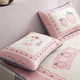 Xiaojie Fundas de almohada, un par de almohadas para estudiantes solteros adolescentes románticos de verano fresco y seda de hielo (color: 2, tamaño: 48 x 74 cm)