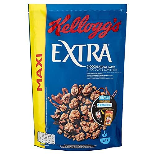 Kellogg's Cereali Integrali Extra, con Cioccolato al Latte, 500 G