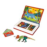Janod - Magneti'Book Dinosaurios - Juego Educativo Magnético de 50Piezas - Desarrolla la Motricidad Fina y la Imaginación - Certificado FSC® - A partir de 3Años, J02590