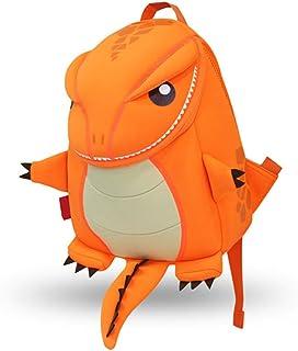 Mochilas para Niños Kindergarten Preescolar para Niños Pequeños/Niñas Mochila 3D Bolsa De Animales Mochilas Mochila para Niños Linda Mochila De Guardería, 2-6 Años(Dragón-Naranja)