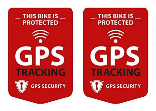 GPS-tracking, 2 stuks stickers voor de fiets, fietsstickers - weerbestendig, UV-bestendig