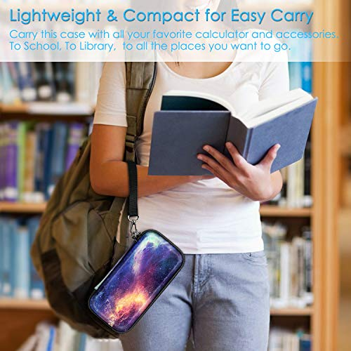Graphing Calculator Carrying Case for TI-84 Plus CE, Fintie Hard EVA Shockproof Protective Box for TI-84 Plus/TI-83 Plus CE/Casio fx-9750GII (Galaxy) Photo #2