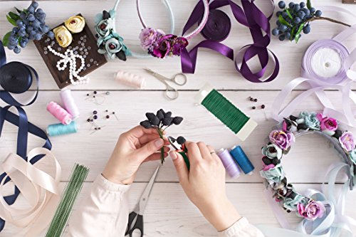 Paxcoo Floral Arrangement Supplies with Floral Wire 26 Gauge Green Floral Tapes Wire Cutter Paddle Wire and 100 Pieces Ball Head Pins for Bouquet Stem Wrap Florist