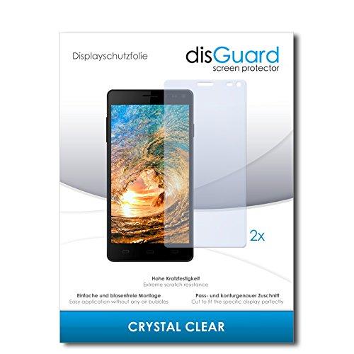 disGuard® Bildschirmschutzfolie [Crystal Clear] kompatibel mit Siswoo R8 Monster [2 Stück] Kristallklar, Transparent, Unsichtbar, Extrem Kratzfest, Anti-Fingerabdruck - Panzerglas Folie, Schutzfolie