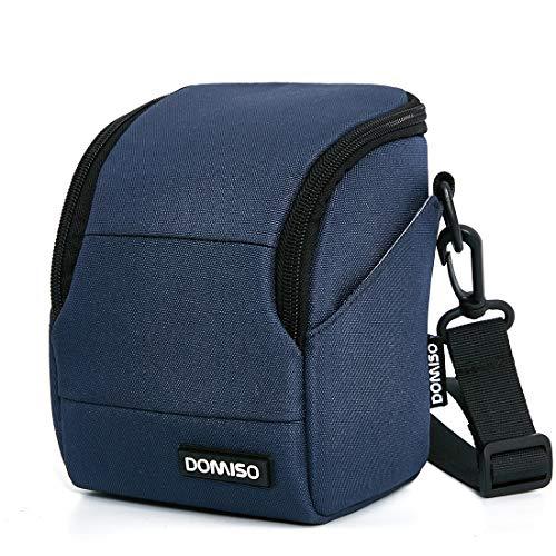DOMISO camera case camera-etui schoudertas voor systeemcamera Canon EOS M6 M5 M3 M10 PowerShot SX540 HS SX430 is/Sony A6500 A6300 A6000 A5100 / Nikon 1 J5 COOLPIX B700 B500 / Olympus E-PL 8, marineblauw