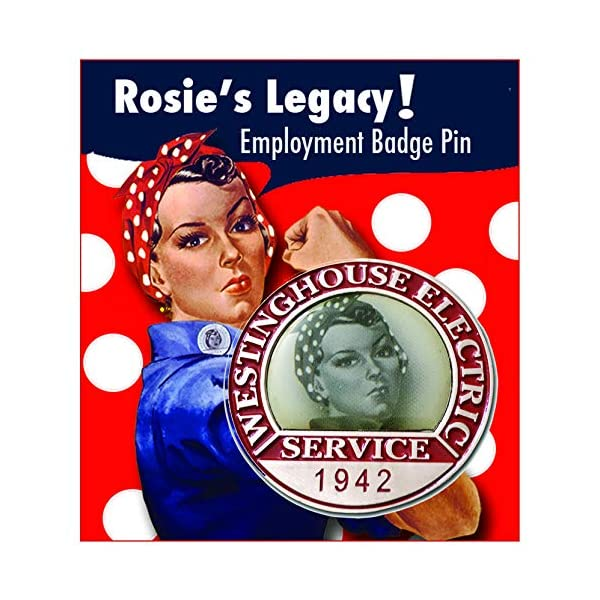 Rosie the Riveter Pin, Authentic WW2-Style Collar Pin, Enamel on Metal