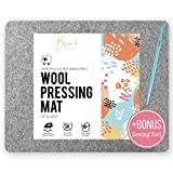Briink Collective 100% New Zealand Wool Pressing Mat - Portable Ironing Board Quilting Supplies + Bonus Sewing Tool (17' x 13.5')