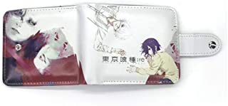 RNGEDG Tokyo Ghouls Wallet With Coin Purse Short Walelts For Anime Fans
