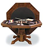 54' Combination 3-in-1 Game/Dining Table in Chestnut Finish