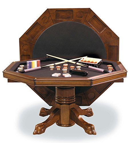 54  Combination 3-in-1 Game Dining Table in Chestnut Finish