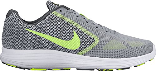 Nike Men's Revolution 3 Competition Running Shoes, Grey (Stealth/Volt-Anthracite-White), 10 UK