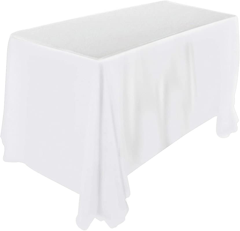 Utopia Kitchen 90 By 132 Inch White Tablecloth 100 Percent Polyester Rectangular Table Cover