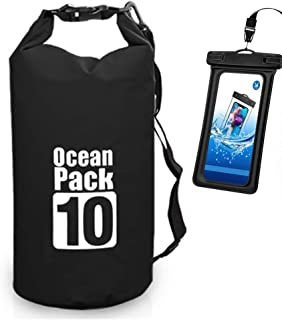 Waterproof Dry Bag - Roll Top Dry Compression Sack Keeps Gear Dry for Kayaking, Beach, Rafting, Boating, Hiking, Camping a...