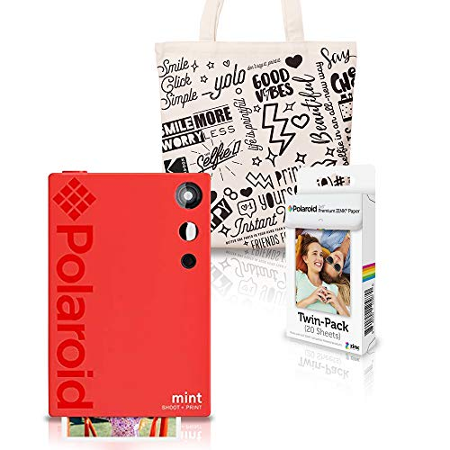 Polaroid Mint Cámara Instantánea (Rojo) Kit de Inicio con Bolso de Mano