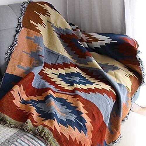 LLYX-Mantas de Invierno, Manta, Manta Línea Sofá Toalla sofá de la Manta, Manta Inicio Ocio-130X160cm Ideal para Manta de sofá y Cama