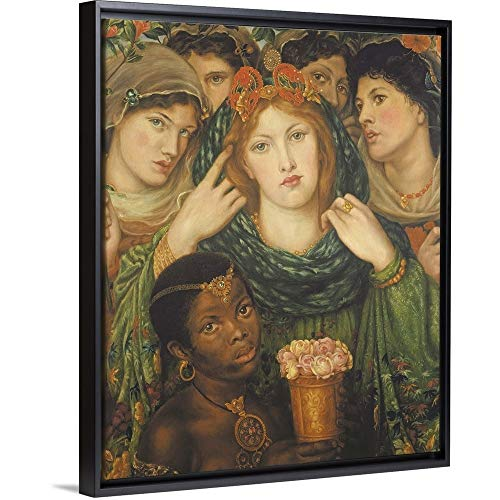 The Beloved, 1865-66' Black Floating Frame Canvas Art, 18'x22'x1.75'