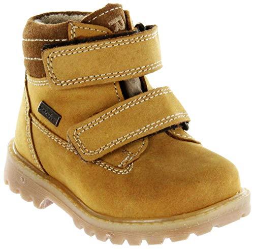 Richter Kinder Lauflerner-Stiefel Sympatex beige Nubukleder Jungen Schuhe 1232-441-5111 Mustard Pragon, Größe:30 EU, Farbe:beige