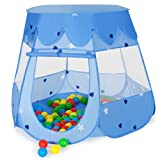 TecTake Kanner Playhouse Pop Up Playhouse Kanner Playhouse mat Playhouse 100 Balls + Bag (Blo)
