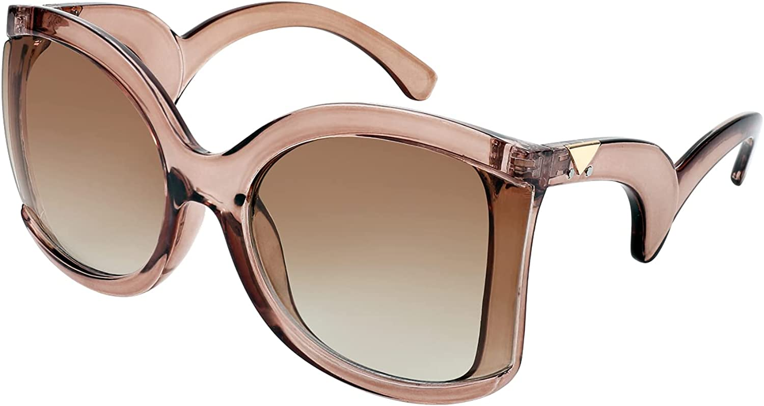FEISEDY online Manufacturer OFFicial shop shopping Oversized Square Butterfly Sunglasses F Curved Curly Arm