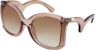نظارات شمسية مربعة الشكل من FEISEDY بإطار منحنٍ على شكل ذراع منحنٍ الشكل للسيدات B4035