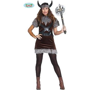 Karnival Costumes 81071 – Disfraz de vikinga para Mujer Talla S ...