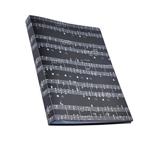 Ordner aus Kunststoff mit Musik muster für Noten und Dokumente Dokument-Organizer - # 6 Schwarz