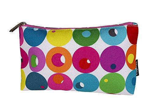 Kapitza for Clinique Multi-Color Geometric Print Bag for Makeup  Cosmetics  Toiletries