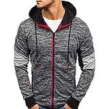 Rpaioパーカー長袖スウェット 男性ジッパーカラーブロックフード付きスウェットファイザーハードスウェットシートユニセックスパーカースーツフード付きスウェットシャツ長袖Tシャツスポーツコート (Color : Dark Grey, Size : XXX-Large)