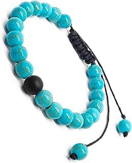 The Bling Stores Phiroza (Firoza/Turquoise) Stone Bracelet 8mm Semi-Precious Gemstones Healing Beaded Bracelet Unisex with...